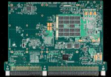 XCalibur4640 6U VPX Single Board Computer (SBC) Bottom Shot