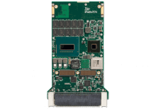 XPedite7574 3U VPX Single Board Computer (SBC) Top Shot