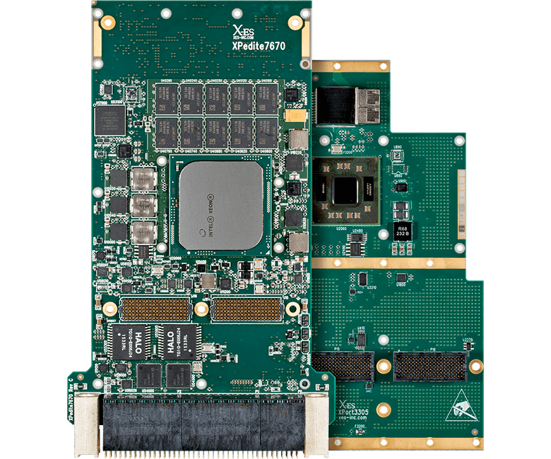 XPedite7670 3U VPX Single Board Computer - XPort3305 10GbE Networking Module